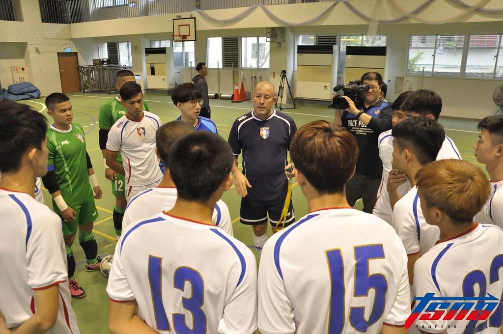 台灣五人制男足在北投進行練球。(張哲郢/攝)