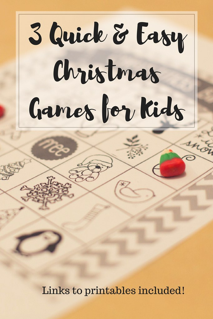 Three quick and easy Christmas games for kids!
