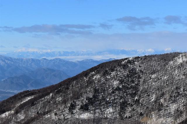 黒斑山から眺める北アルプス