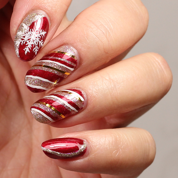 Christmas nail art with Mereneid Sari gel products