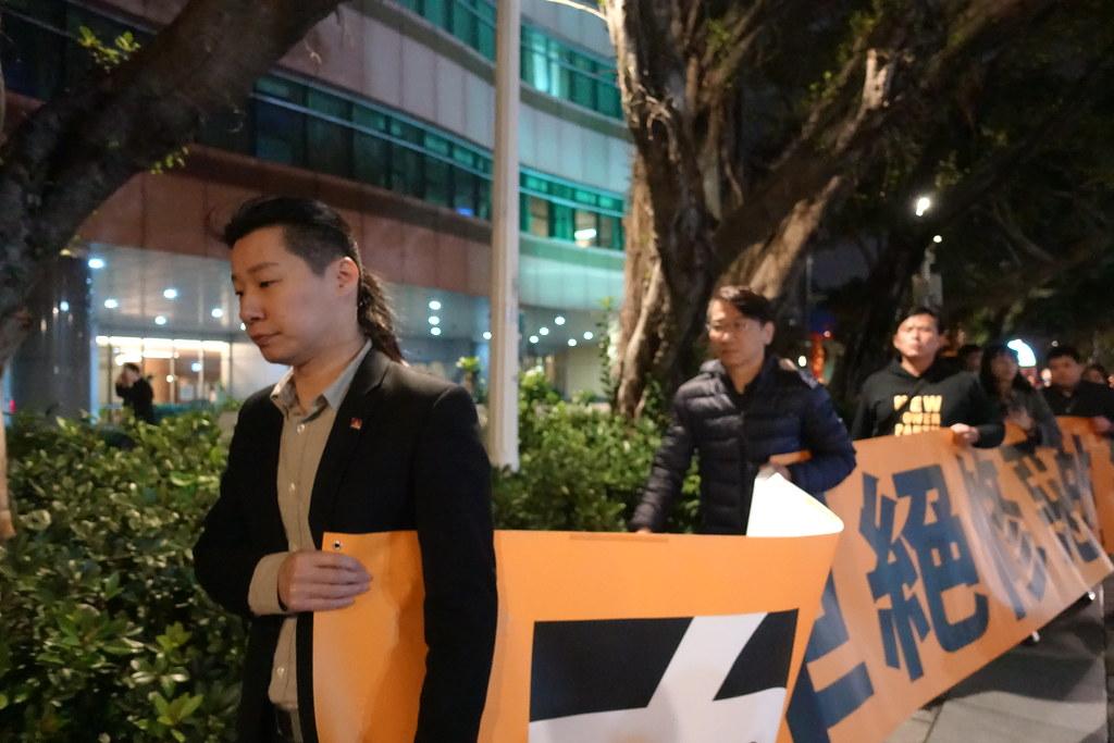 時代力量黨團從立院遊行至總統府。(攝影:張智琦)