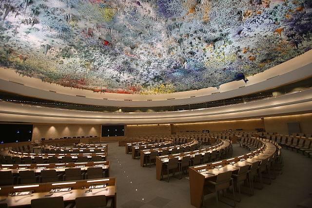 聯合國人權理事會會場。