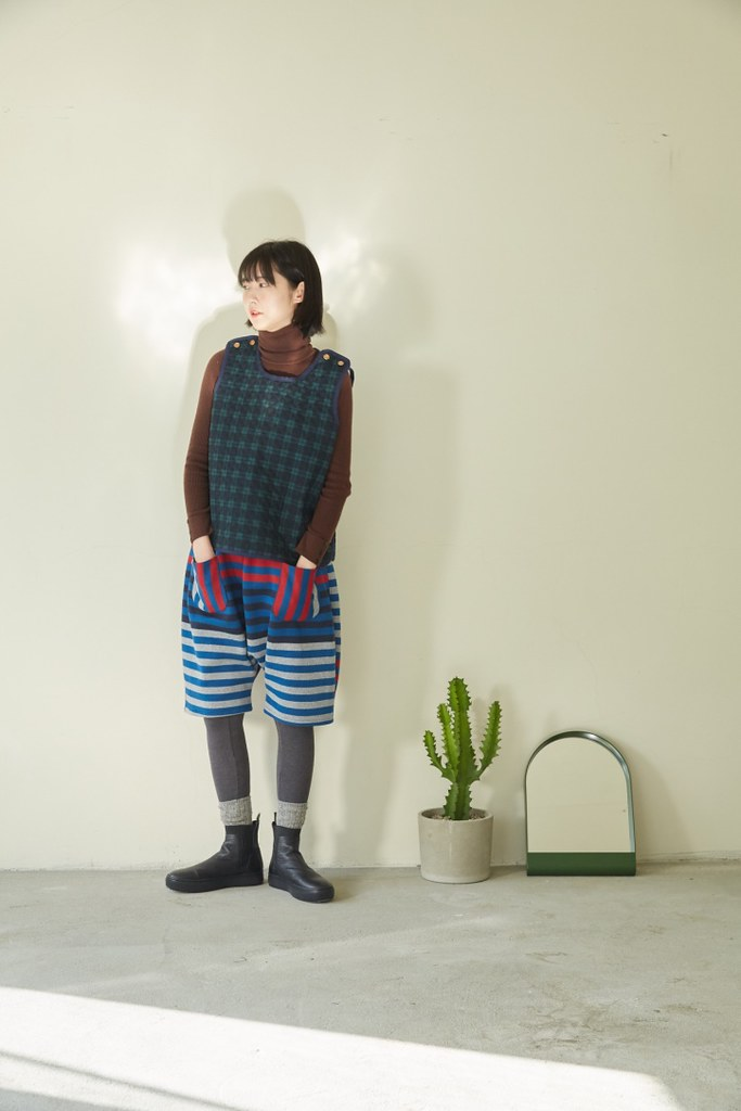 Green plaid British cotton vest (left long version of the spot revision  length needs to be discussed)
