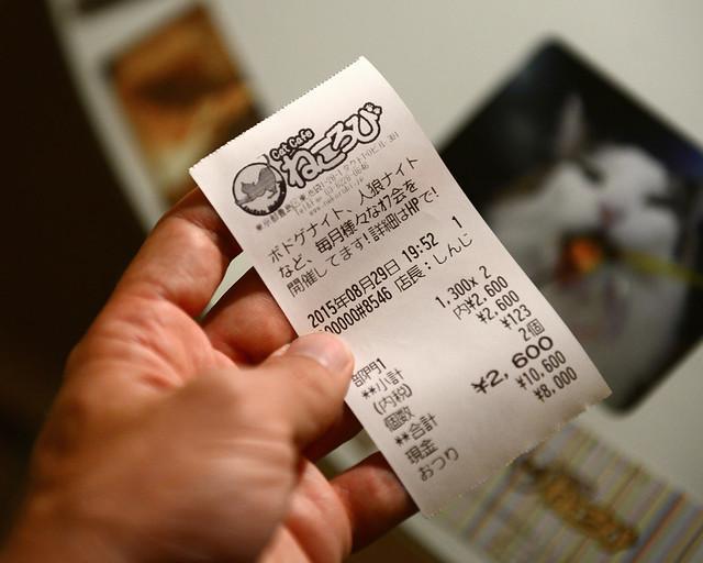 Ticket de acceso al Nekorobi Café en Japón