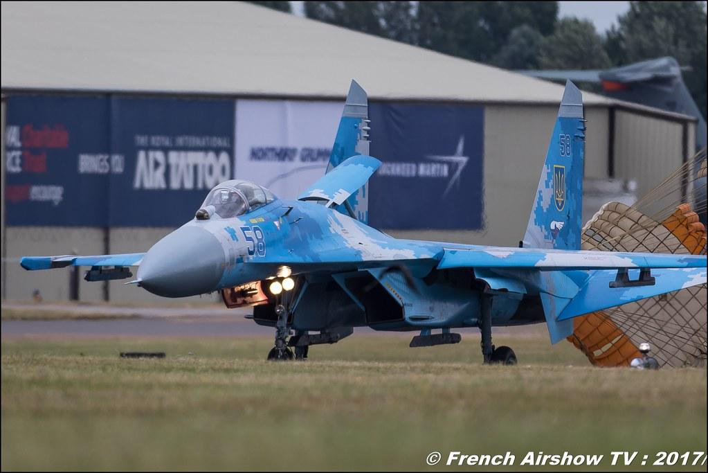 Sukhoi Su-27 Flanker , Ukraine Air Force , Royal International Air Tattoo 2017 , Air Tattoo – RIAT 2017 , Fairford , UK Airshow Review 2017 , Meeting Aerien 2017