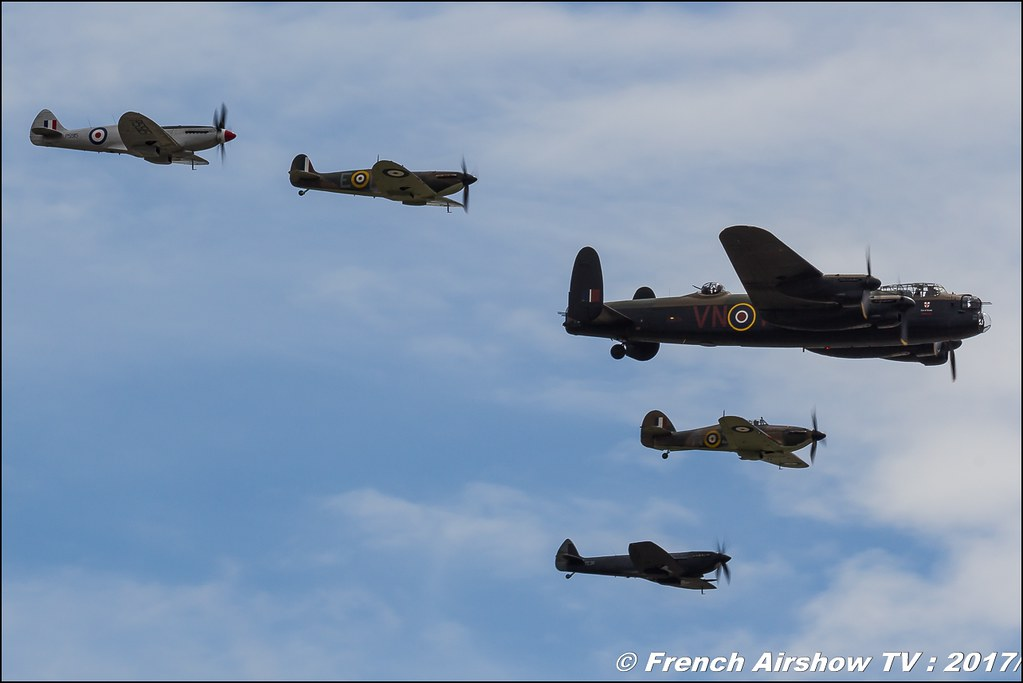 Battle of Britain Memorial Flight BBMF Lancaster PA474 , Spitfire , RAF , Royal International Air Tattoo 2017 , Air Tattoo – RIAT 2017 , Fairford , UK Airshow Review 2017 , Meeting Aerien 2017