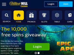 William Hill Mobile Casino Home