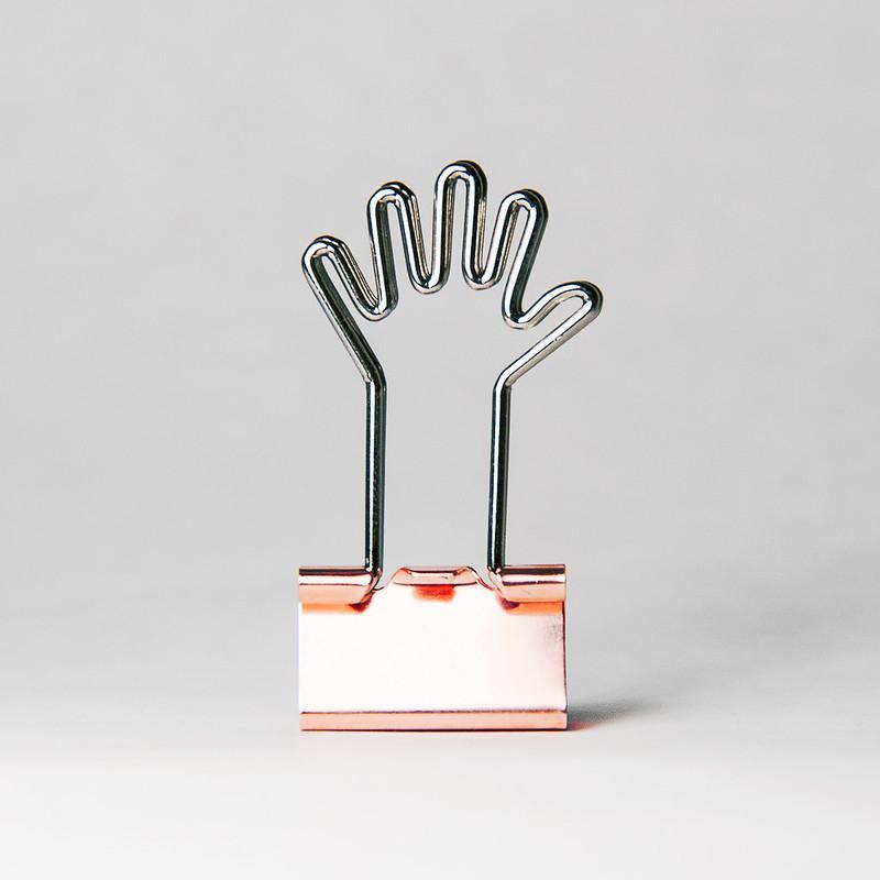 hand binder clip, palm binder clip
