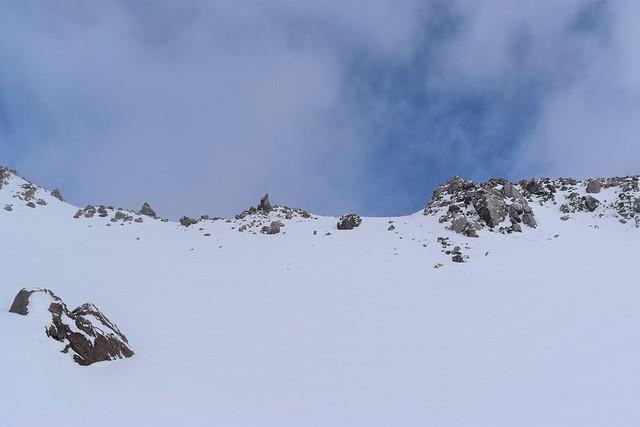 焼岳雪山登山 北峰の稜線