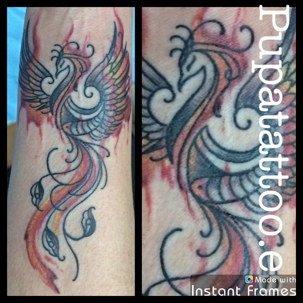 Tatuaje Ave Fénix Pupa Tattoo Granada Web Wwwpupatattoo Flickr