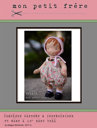 "E-book- PDF pattern and tutorial for 10"" baby doll"