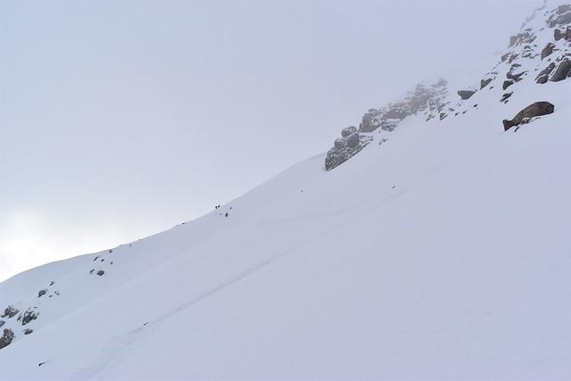 焼岳 南峰方面の稜線