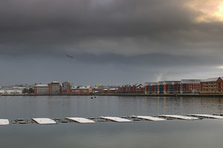 Snow clouds over Preston Docks | by Tony Worrall