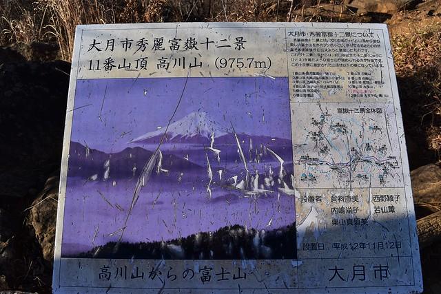 高川山 案内図