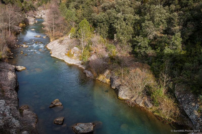 Río Llobregat desde el Pont de Pedret