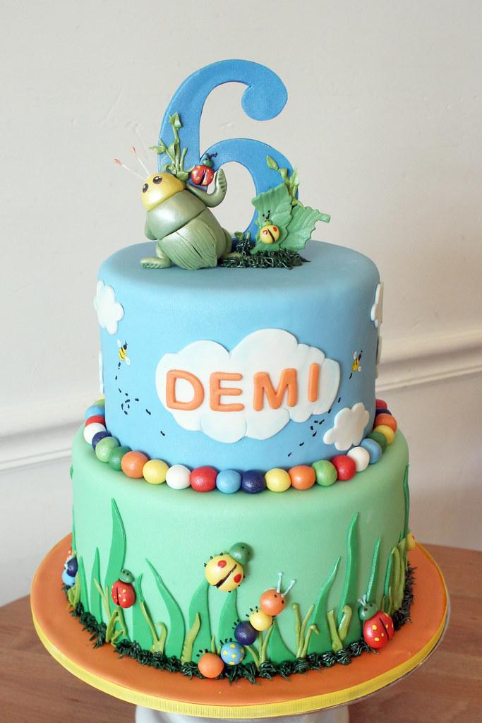 Outdoor Bugs Birthday Cake Oakleaf Cakes Flickr