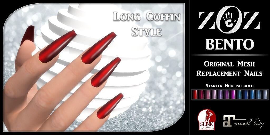 ZOZ} BENTO Long Coffin Nails pix   New!! {ZOZ} BENTO origin…   Flickr