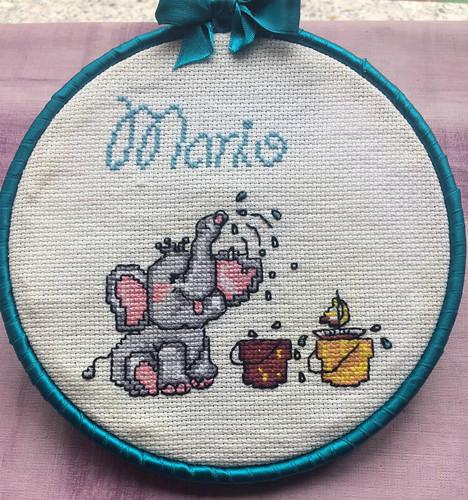 Bastidor de Mario con elefante