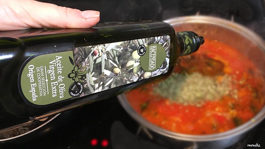 albóndigas en salsa con verduras