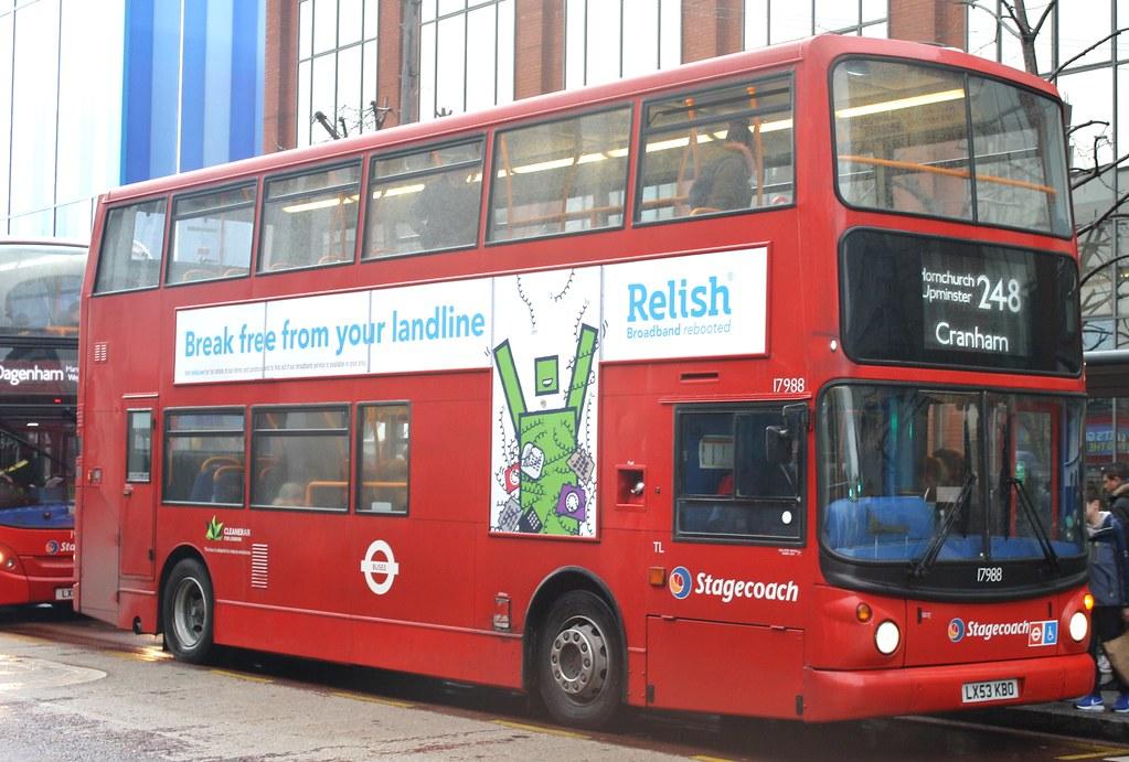 ... 20180203 - 6748 - Stagecoach East London - Alexander ALX400 Dennis  Trident - No 17988 -