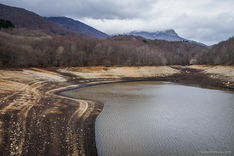 Pantano de Santa de Montseny casi seco