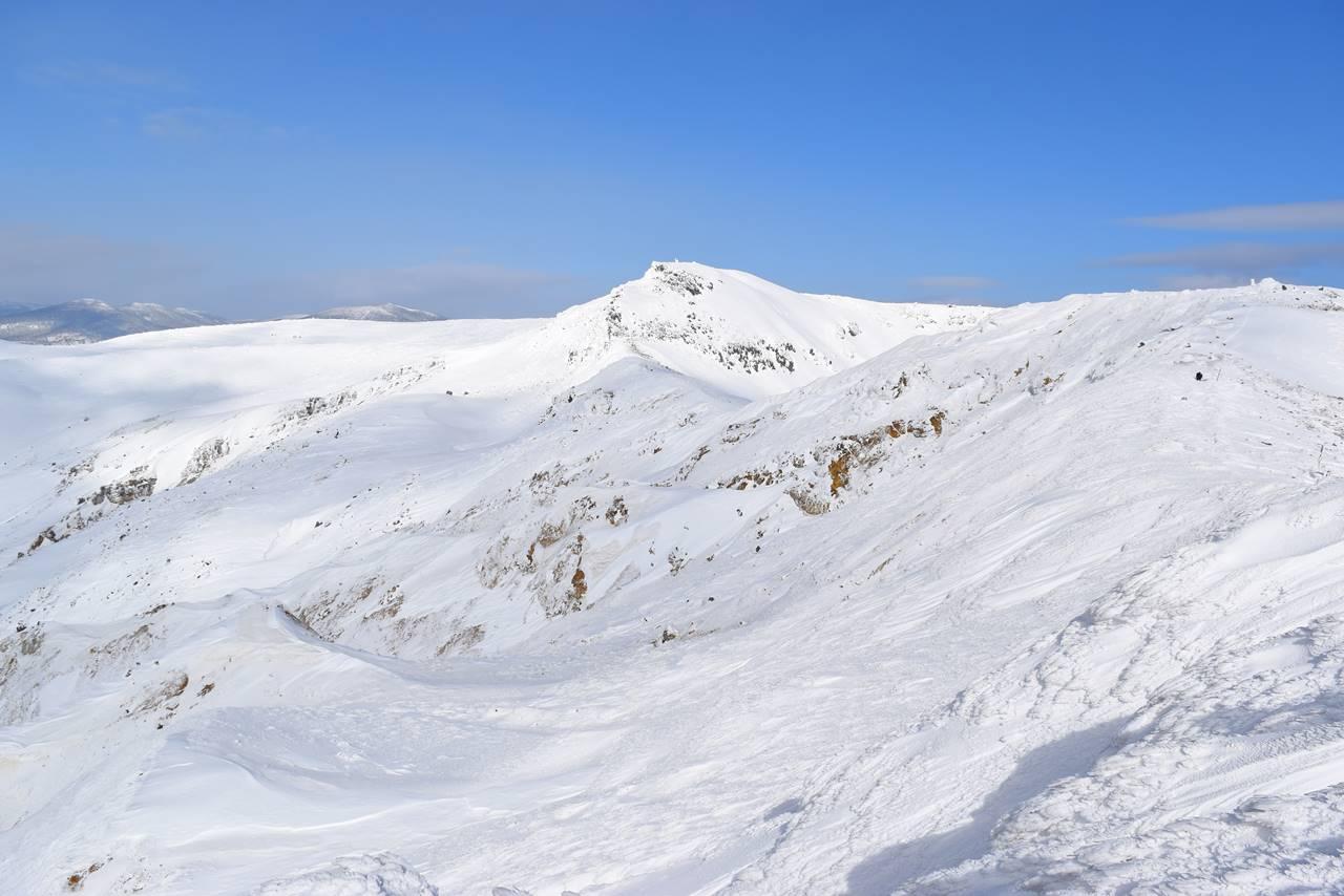 冬の安達太良山・沼ノ平