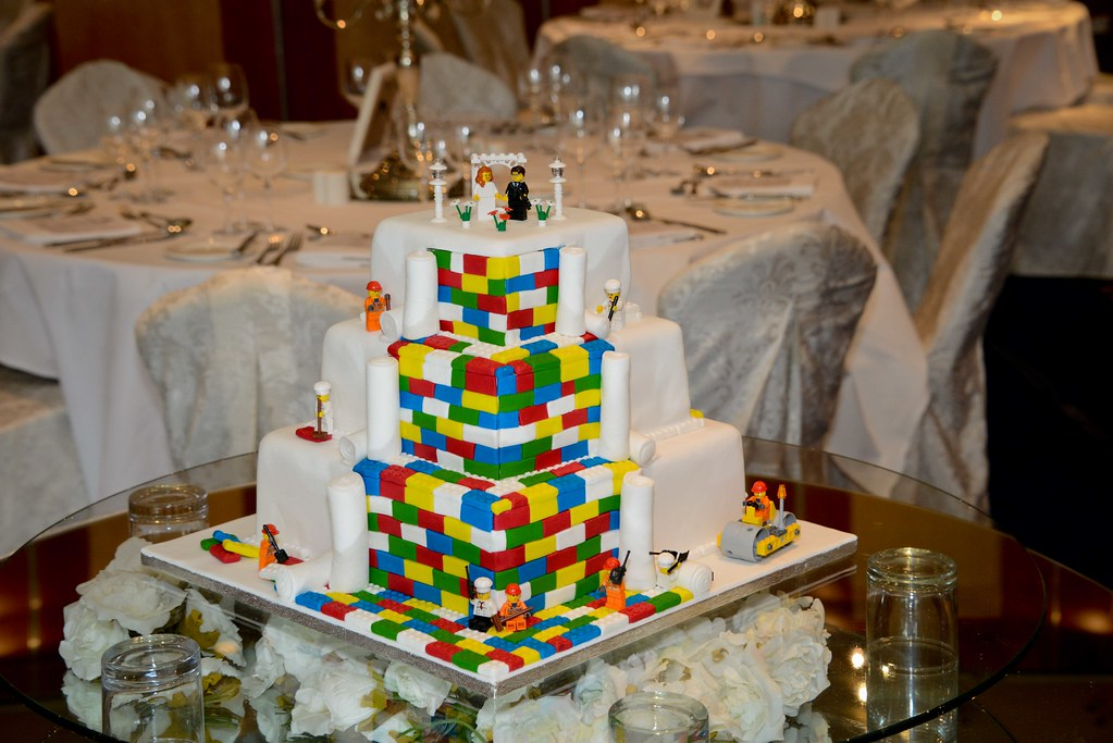 Lego Themed Wedding Cake At Lough Rynn Castle Fab Lego The Flickr