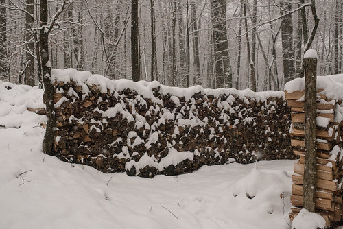 Woodpiles in Snow | by goingslowly