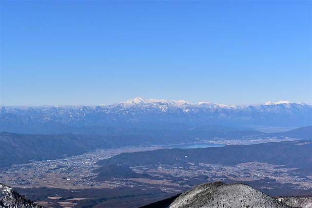 冬の八ヶ岳登山 乗鞍岳と諏訪湖