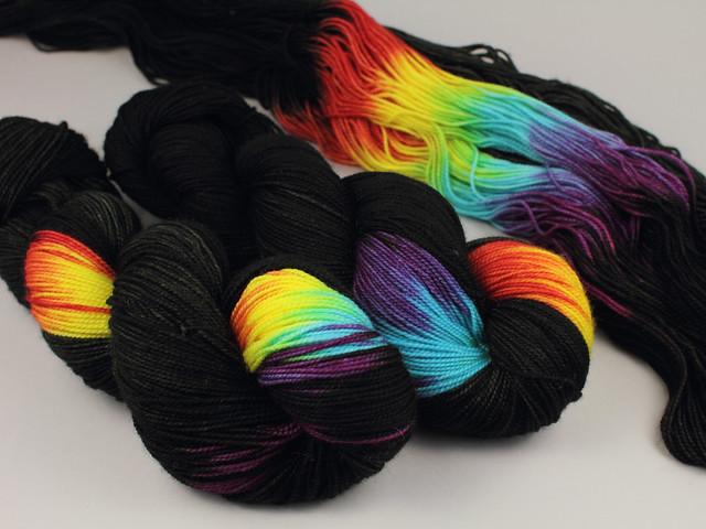 Favourite Sock – hand-dyed pure merino superwash wool 4 ply/sock yarn 100g – 'ZX'