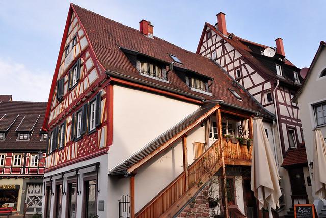 Ladenburg am Neckar, fast ein kleines Rothenburg ... Archäologie, Altertum, Mittelalter, Moderne ... alte Häuser, malerische Gassen ... Foto: Brigitte Stolle, Februar 2018