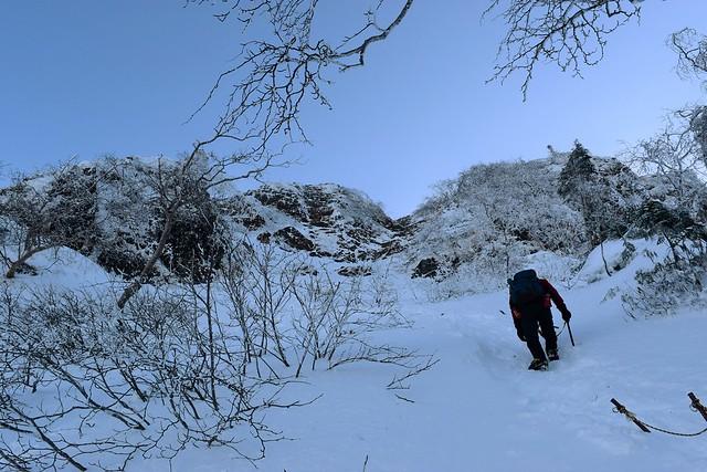 八ヶ岳・地蔵尾根 雪山登山