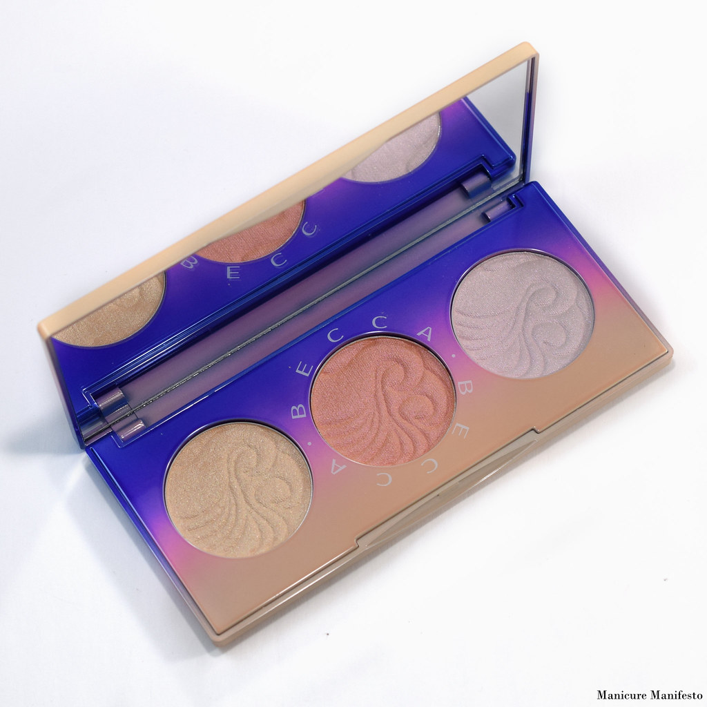 Becca light waves highlighter palette review