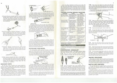 Estes Challenger-1 (1416) Starter Set Instructions (as printed) Pgs. 7 & 10 | by Model Rockets Rock!