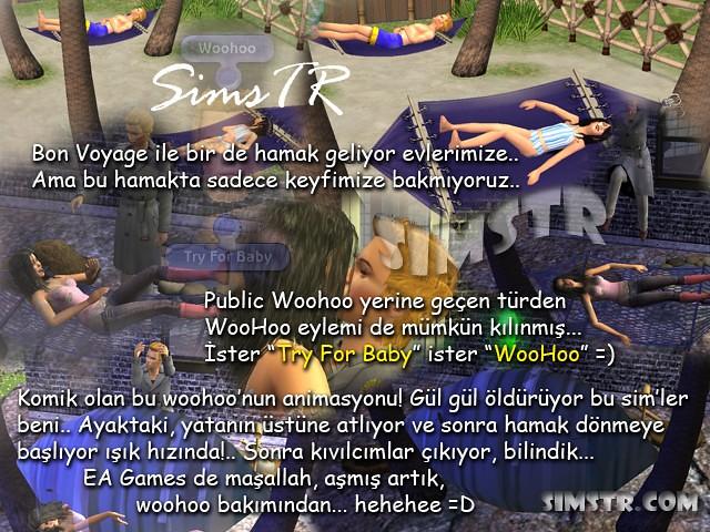 The Sims 2 Bon Voyage Hammock Hamak
