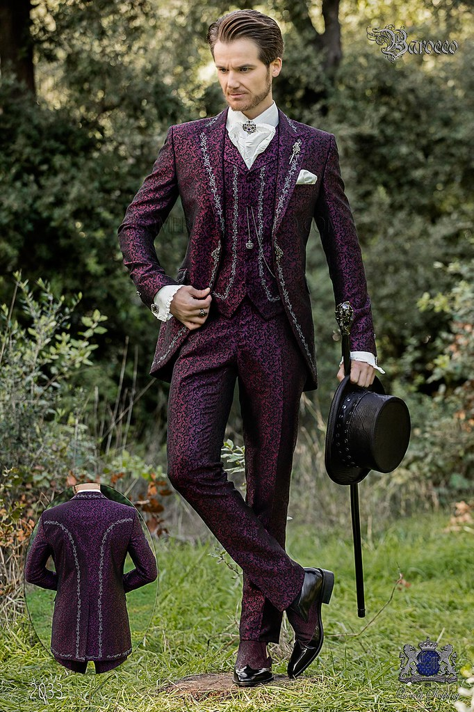 Barocker Brautigam Anzug Vintage Gehrock In Lilem Jacquar Flickr