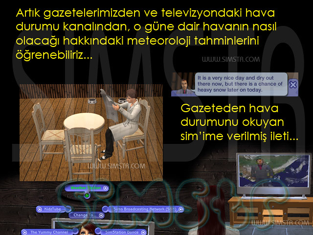 The Sims 2 Seasons Weather Station Hava Durumu Kanalı Gazete