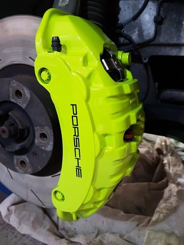 Acid Green Porsche Calipers