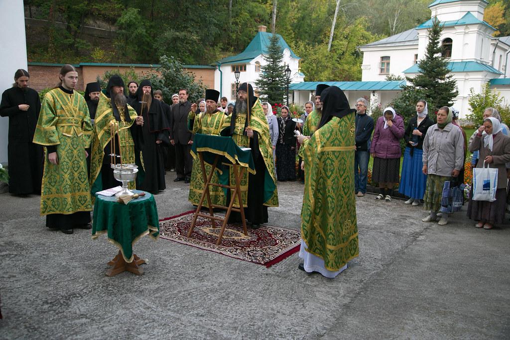 Празднование в скиту памяти преподобных Антония и Феодосия Печерских. 15 сентября 2014г.