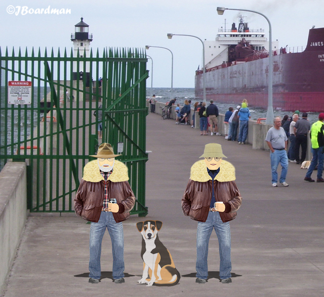 Cujo met with Boomer & Joey in Duluth ©JBoardman