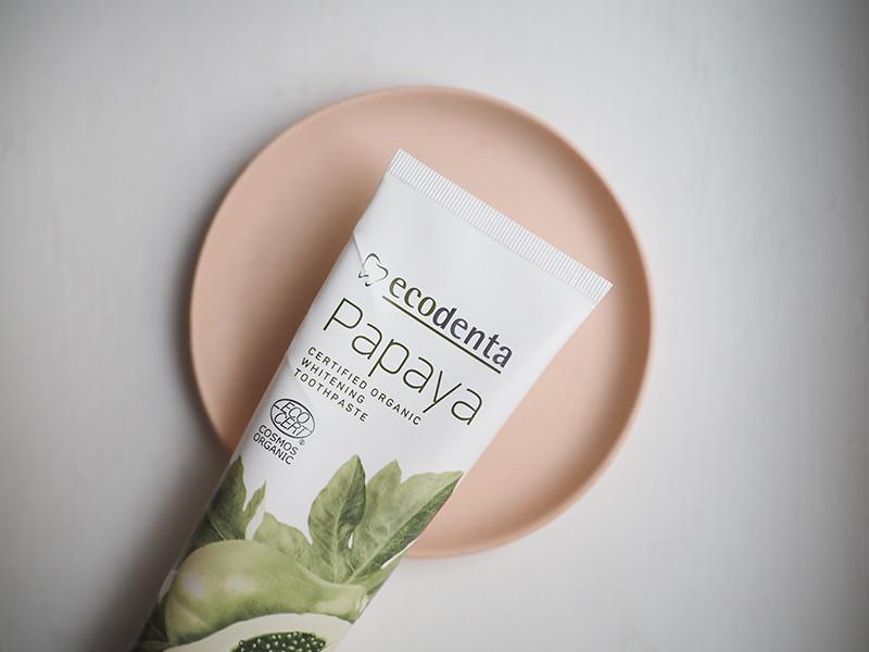 Ecodenta Papaya valkaiseva luonnollinen hammastahna