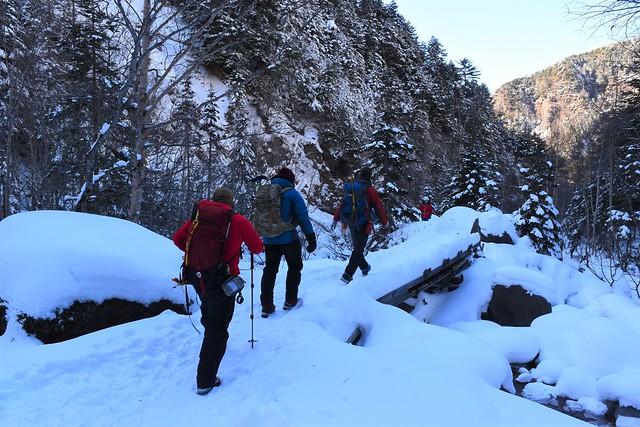 赤岳鉱泉から北沢コースで下山