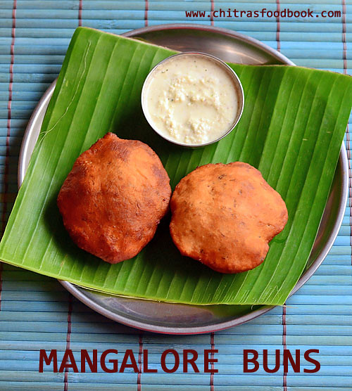 Mangalore buns with coconut chutney