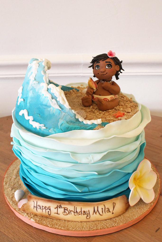 Baby Moana Wave Birthday Cake Oakleaf Cakes Flickr