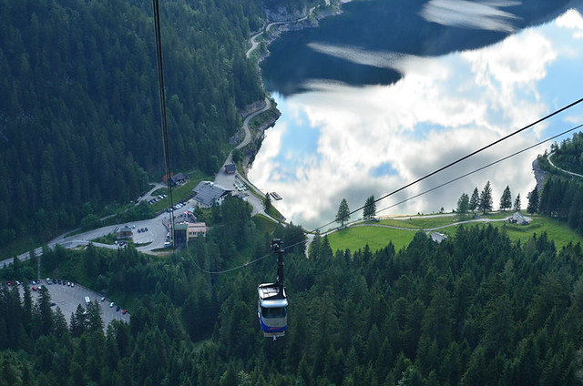 Cable car from Gosausee, Austria