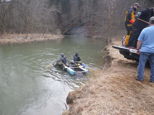 Photo of department crew stocking trout