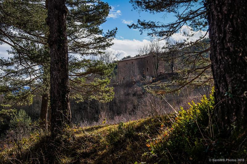 Campamento de Sant Joan de l'Avellanet desde la Vía del Nicolau