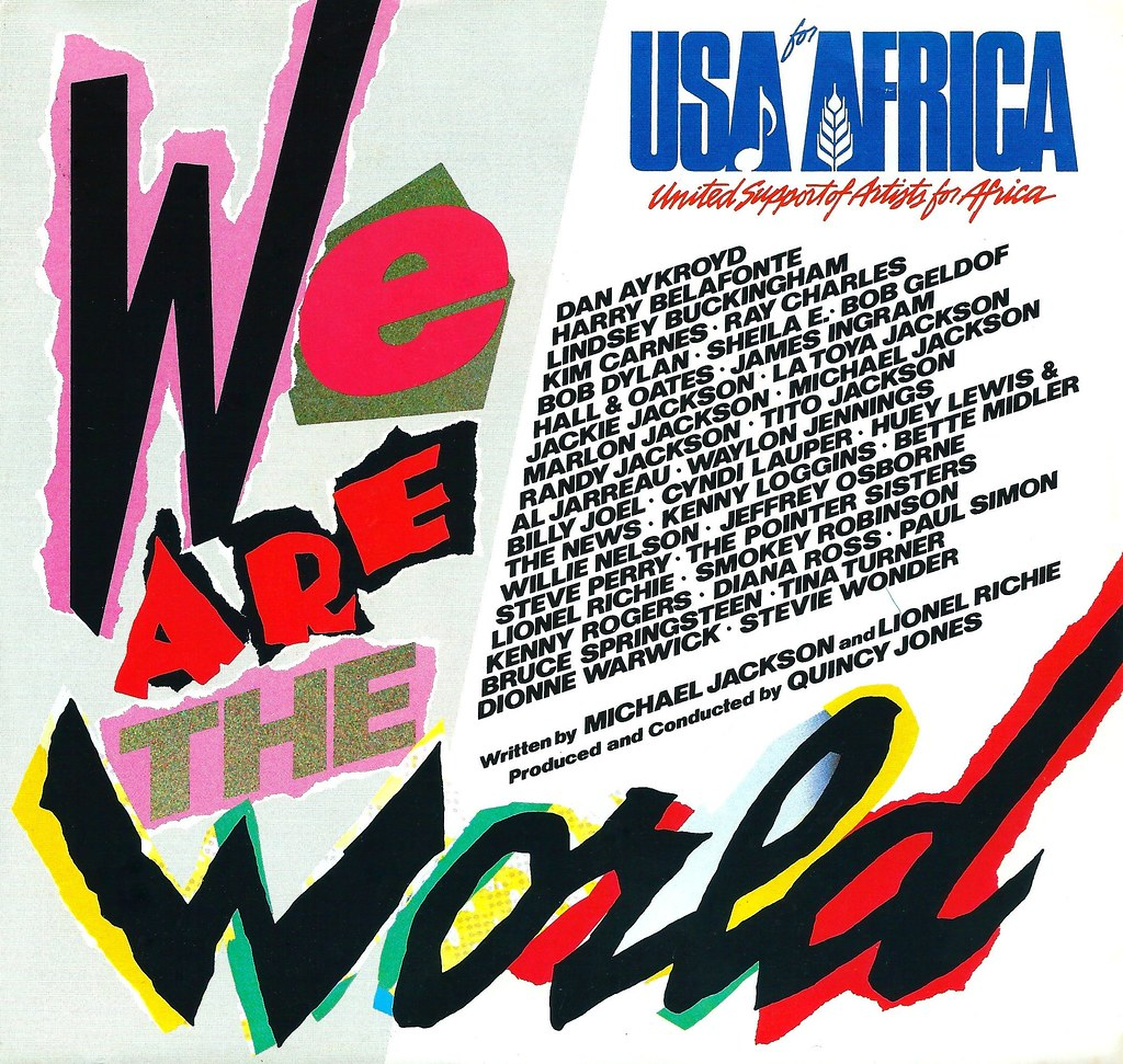 Vintage Vinyl Record Collection Usa For Africa We Are