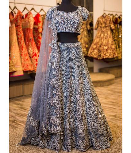 dresses Buy Now Gray Color Banarasi...