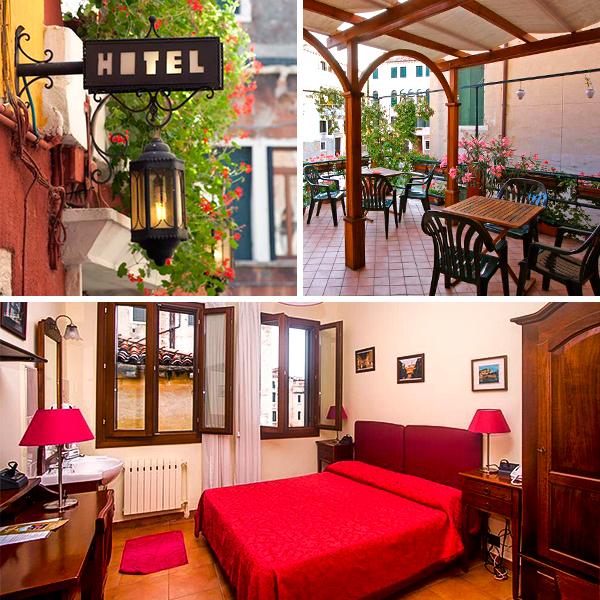 Hotel Dalla Mora, uno de los lugares más baratos donde dormir en Venecia